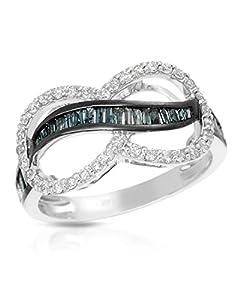 Krementz 14K White Gold 0.67 CTW Diamonds Women Ring. Ring Size 6.5. Total Item weight 3.5 g.