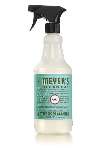 Mrs. Meyer's Clean Day Bathroom Cleaner, Basil, 24 Ounce (Pack of 2)