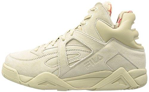 Fila Men's The Cage Fashion Sneaker, Fila Cream/Fila Red, 9 M US