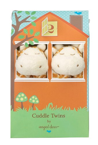 Angel Dear Cuddle Twin Set, Brown Giraffe