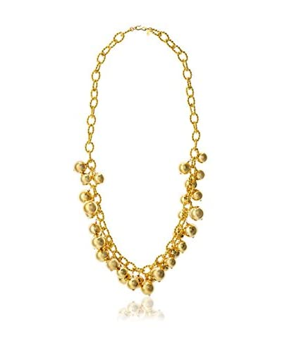 Kenneth Jay Lane Polished Gold Link and Beads Necklace As You See