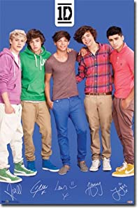 "One Direction 1D - Blue Wall Poster 22"" X 34"" by Trends"