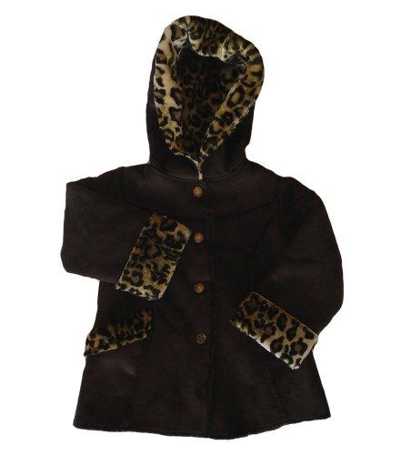 Osh Kosh Girl's Faux Fur Hooded Coat (4)