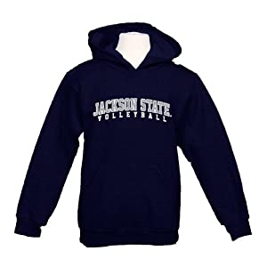 Jackson State Youth Navy Fleece Hood-Large, Volleyball