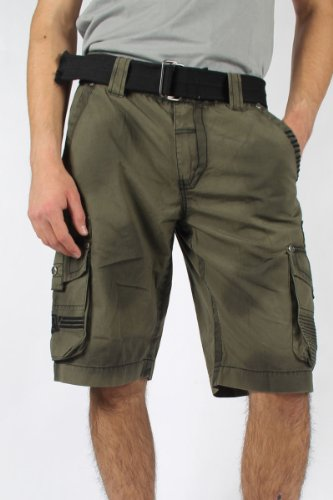 Affliction - Mens Wild Law Cargo Cargo Shorts In Miltary Green, Size: 38, Color: Miltary Green