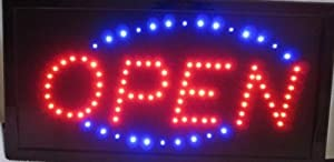 Open Led Neon Business Motion Light Sign. On/off