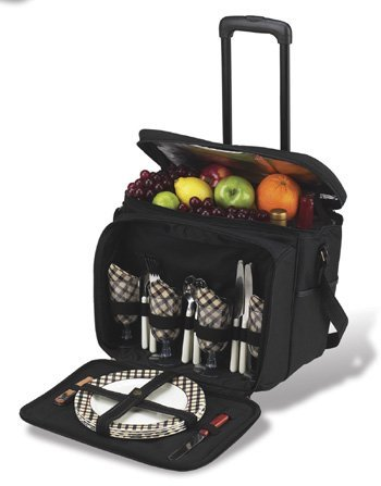 Review Of Picnic at Ascot London Picnic Cooler for 4 with Removable Wheeled Cart