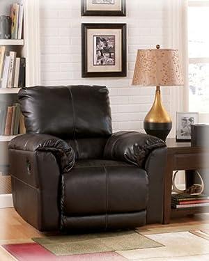 Ashley Furniture San Marco   Chocolate Rocker Recliner 6560125 Best Seller