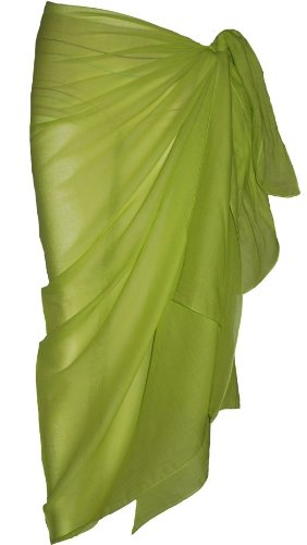 Plain Green Cotton Sarong