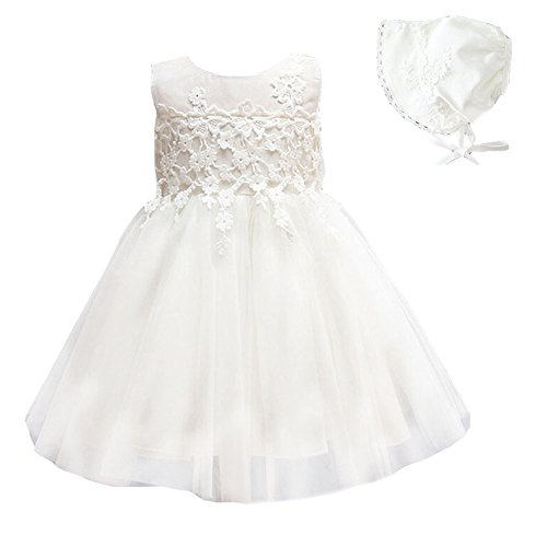Baby Mädchen Taufbekleidung Kleid 2PCS Prinzessin Festkleidkleid