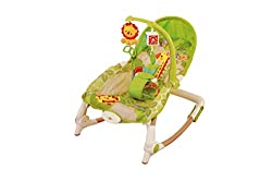 Planet Of Toys New Born Toddler Portable Recliner Rocker Chair (Adjustable Heights) ...