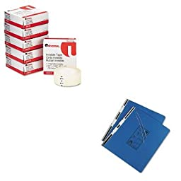KITUNV15442UNV83410 - Value Kit - Universal Pressboard Hanging Data Binder (UNV15442) and Universal Invisible Tape (UNV83410)