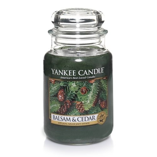 Yankee Candle Large 22-Ounce Jar Candle, Balsam & Cedar