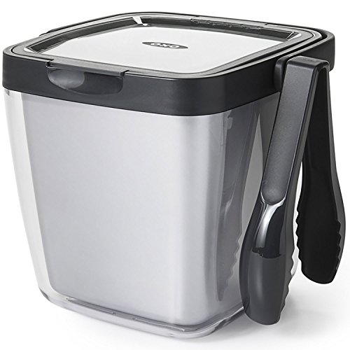 OXO Good Grips Double Wall Ice Bucket with Tongs and Garnish Tray (Insulated Ice Bin compare prices)