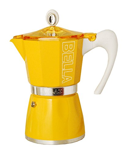 European Gift & Houseware 10-5806 6 Cup Bella Stove-Top Espresso Makers, Sunset Yellow