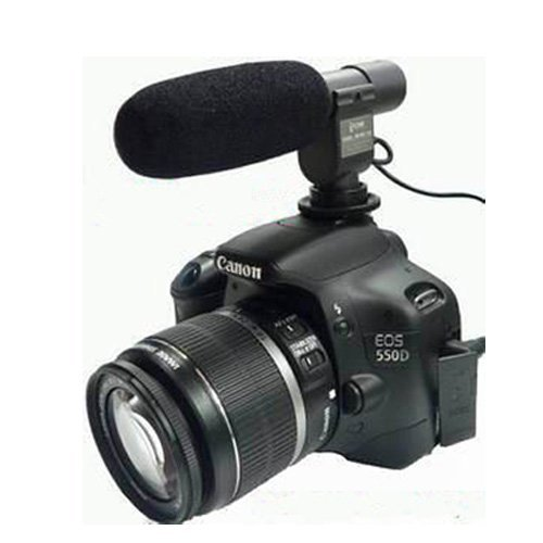 Xcsource Sg-108 Dv Stereo Microphone For Dv Dslr Camera Canon Eos Rebel T5I T4I T3I T2I 700D 600D 550D 70D 60D 6D 5D Markiii Nikon D800 /E D600 D3200 D5200 D7000 D7100 Pentax K-7 K-5 Lf081