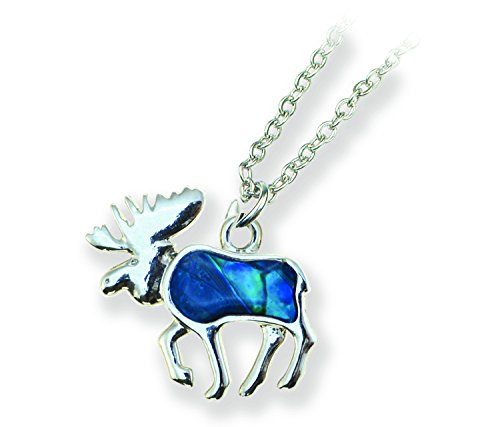 Puzzled Aqua Moose Link Style Necklace 18""