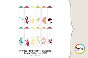 Project Life Month Dividers - Cherry Edition