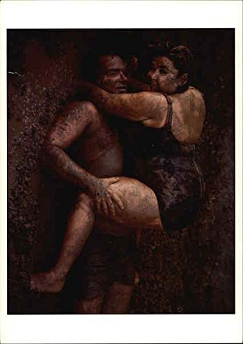 Roseanne-Barr-and-Tom-Arnold-1990-Malibu-California-Original-Vintage-Postcard