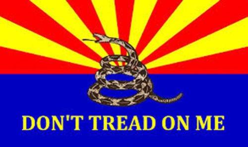 3X5 Ft Arizona Don'T Tread On Me Tea Party Flag
