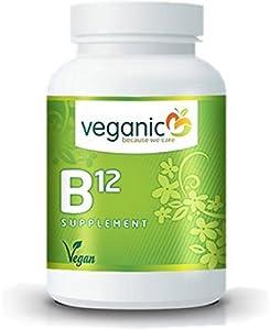 Veganic Vitamin B12, 500 mcg (mit B6 + Folsäure), vegan, 90 Tabletten