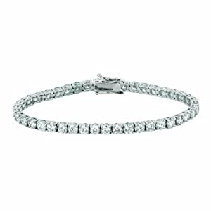 14 Karat White Gold bracelet Enhanced With Briliant Near Colorless Diamonds. (GH-Color SI2-Clarity 10.02-Carat)