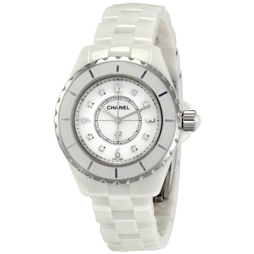 Chanel J12 White Ceramic Diamonds Quartz Ladies