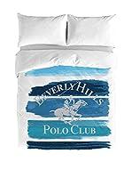 BEVERLY HILLS POLO CLUB Juego De Funda Nórdica Luisiana (Blanco/Azul)