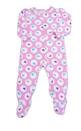 Absorba Toddler Girls Blanket Sleeper Hearts (3T)