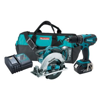 Makita XT250 LXT 18V Cordless Lithium-Ion  1/2 in. Hammer Drill and Circular Saw Kit