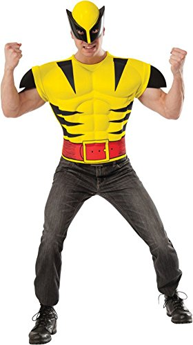 Marvel Wolverine EVA Muscle Chest Costume T-Shirt Mask