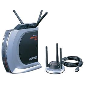 BUFFALO Draft IEEE802.11n/IEEE802.11g/11b 無線LAN BroadBandルータ 1000BASE-T対応モデル USB2.0用無線LANアダプタセット WZR-G144NH/U