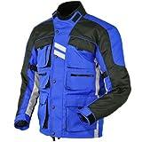 Stilvolle blau Motorradjacke textilien Motorrad Jacke Cordura Motorcycle Jacket
