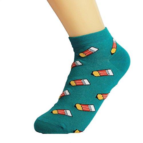 Xingge Women's Pencil Pattern Ankle Socks