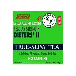 Bamboo Leaf Brand Regular Strength Dieters' Ii True Slim Tea 30 Bags