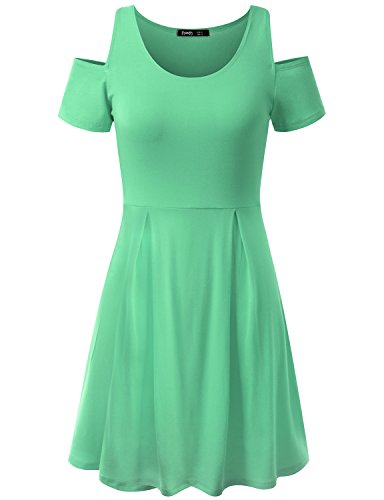 Thanth Short Sleeve Hoodie Women T Shirts Online Misses Tunic Tops Short Dresses For Party, Lightgreen, XS