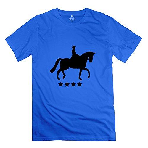 Pferd Dressur Star Boy Tee Shirts Size Xx-Large Royalblue