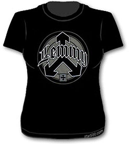 Lemmy Motorhead Official-Logo Arrow-Skinny Fit-Maglietta da donna nero medium