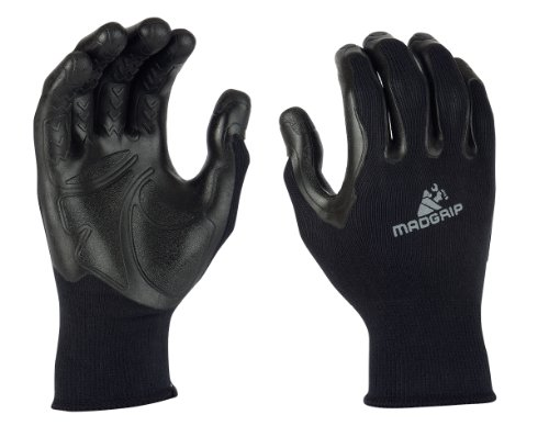Mad Grip F50 Pro Palm Gloves, Black, Large/X-Large (Gorilla Gloves)