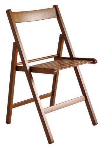 Sedia pieghevole in legno Arno noce