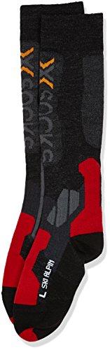 X-Socks Ski Alpin Calza Sci, Uomo, Grigio (Anthracite/Red), 45/47