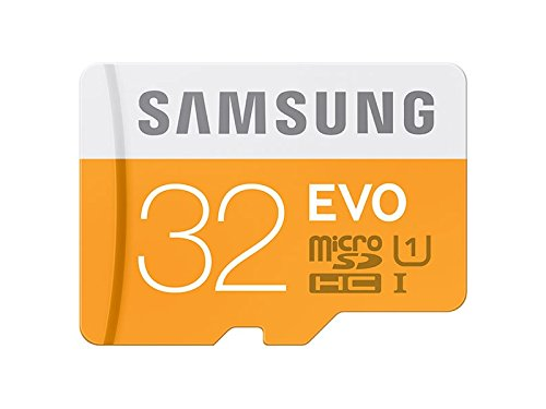 Samsung Memory 32 GB Evo MicroSDHC UHS-I Grade 1 Class 10 Memory Card with SD Adapter