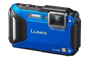 Panasonic DMC-FT5EG9-A Lumix Digitalkamera (7,5 cm (3 Zoll) LCD-Display MOS-Sensor, 16,1 Megapixel, 4,6-fach opt. Zoom, microHDMI, USB, bis 13m wasserdicht) aktiv blau