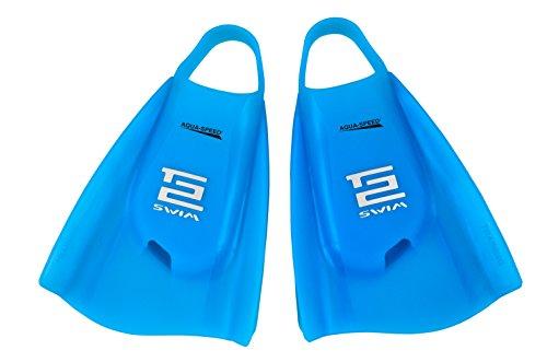 Aquaspeed High Tech kurze Trainingsflossen (Schwimmtraining, 100% Silikon, Rechts-/Linksfuß, patentiert, Tech2, Premium Qualität