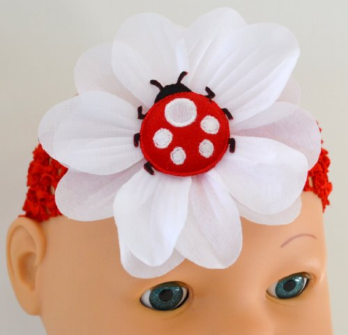 Cheap Puffy Ladybug Baby Headband