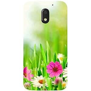 Casotec Spring Floral Pattern Design 3D Printed Hard Back Case Cover for Motorola Moto E3 Power