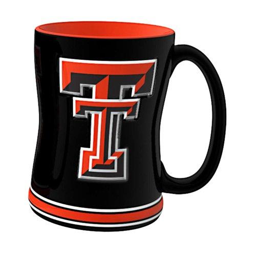 Ncaa Texas Tech Red Raiders Sculpted Relief Mug, 14-Ounce