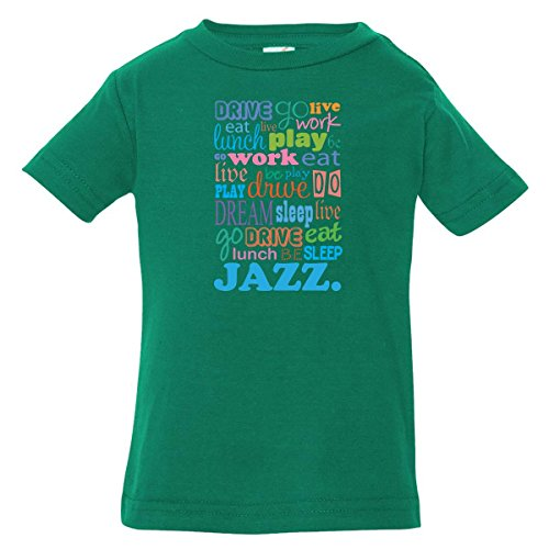 Inktastic Baby Boys' Jazz Music Lover Quote Baby T-Shirt 24 Months Kelly Green