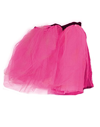 Adult Size Pink Retro 80s Colorful Neon Tutu with stretchy waist for an easy fit.