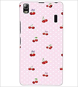 PrintDhaba Cherries D-2293 Back Case Cover for LENOVO A7000 PLUS (Multi-Coloured)